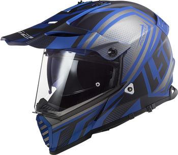 LS2 MX436 Pioneer Evo Master matt schwarz/blau