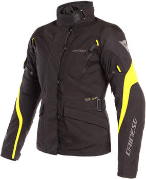 Dainese TEMPEST 2 D-DRY LADY Jacket Black/Black/Yellow Fluo