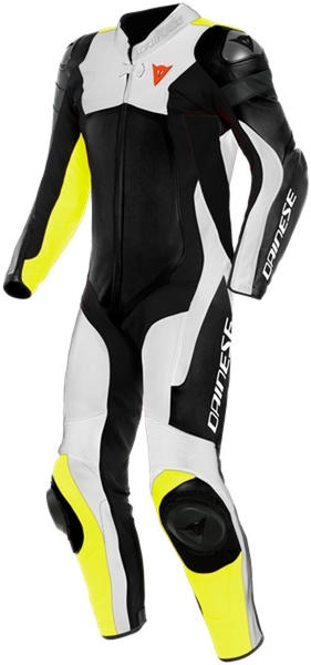Dainese Assen 2 Leather 1 Pcs Black/Yellow Fluo/White