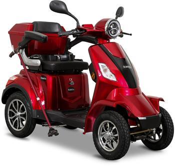 Rolektro Elektromobil »Rolektro E-Quad 25 V.3, Lithium«, 25 km/h, (mit Topcase), rot