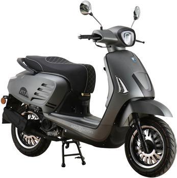 Alpha Motors Motorroller Vita, 50 ccm, 45 km/h, Euro 5, mattgrau grau