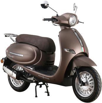 Alpha Motors Motorroller Cappucino, 125 ccm, 85 km/h, Euro 5, mattbraun braun