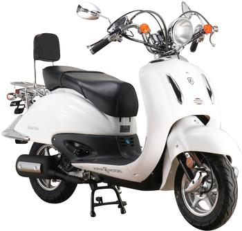 Alpha Motors Mofaroller Firenze, 50 ccm, 25 km/h, Euro 5, weiß