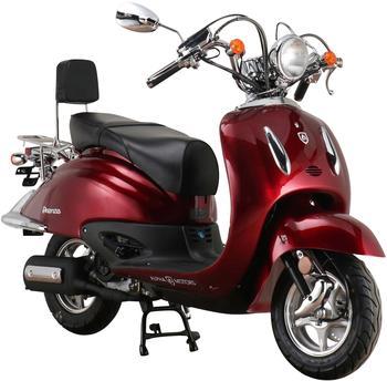 Alpha Motors Mofaroller Firenze, 50 ccm, 25 km/h, Euro 5, schwarz rot