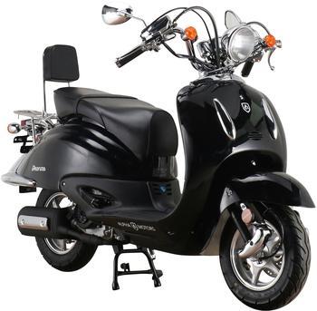 Alpha Motors Motorroller Retro Firenze, 50 ccm, 45 km/h, Euro 5, schwarz