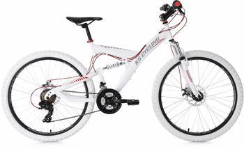 KS-CYCLING Topspin 26 Zoll RH 46 cm weiß/rot