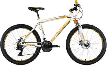 KS-CYCLING KS Cycling Mountainbike Hardtail 26 Compound weiß-orange