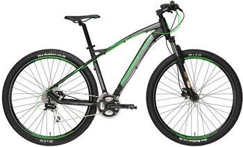 Adriatica 29 Zoll Herren Mountainbike 24 Gang Adriatica Wing RS, Farbe:schwarz-grün, Rahmengröße:42cm