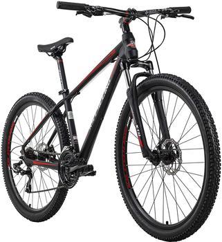 KS-CYCLING KS Cycling Mountainbike Morzine 27,5 Zoll Schwarz/Rot RH 46 cm