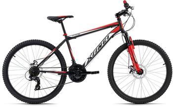 "KS-CYCLING KS Cycling Hardtail MTB 26"" Xtinct grau-rot (RH 46 cm)"