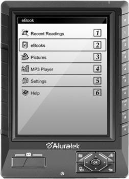 Aluratek Libre eBook Reader Pro schwarz