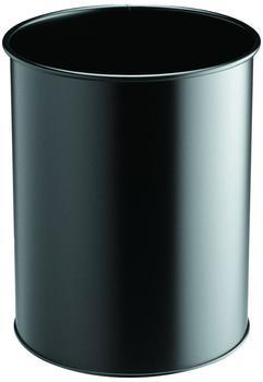 DURABLE Papierkorb Metall rund 15 schwarz (3301-01)