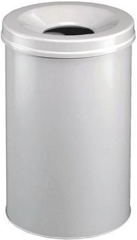DURABLE Papierkorb Safe rund 15 grau (3305-10)