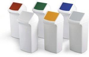 DURABLE Durabin Flip 40 Abfallbehälter weiß/rot