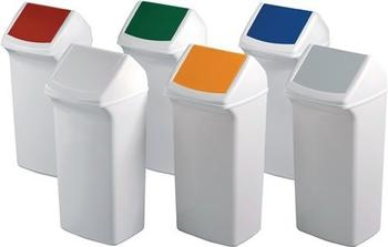 DURABLE Durabin Flip 40 Abfallbehälter weiß/blau