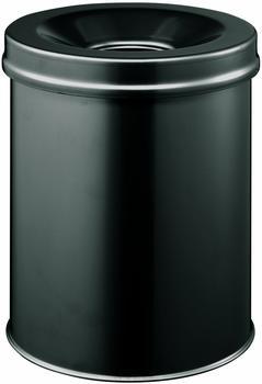 atlanta-papierkorb-metall-rund-mit-flammenloeschkopf-15-l-schwarz