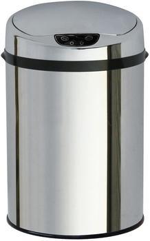 Echtwerk Edelstahl-Abfalleimer mit Sensor 9 L rot