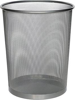 Zeller Papierkorb Mesh 17,5 L grau