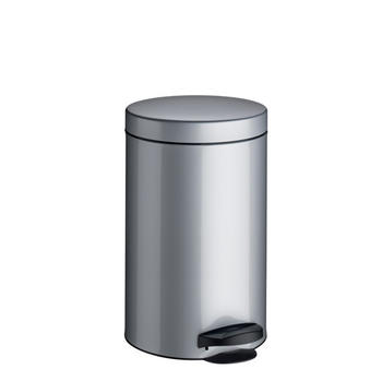 Meliconi Pedal bin with plastic inner pail - inox (14lt.)