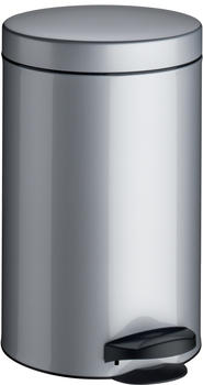 Meliconi Pedal bin 14 lt. with plastic inner pail - silver