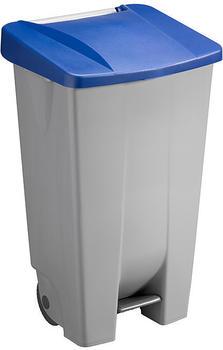 SunWare Basic Tretabfalleimer mit Rollen 120 L grau/blau (H2405534)