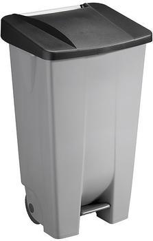 SunWare Basic Tretabfalleimer mit Rollen 120 L grau/schwarz (H2405595)