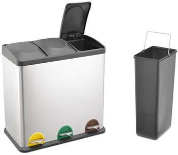 Svita Edelstahl Recycling Mülltrenner 3x20L