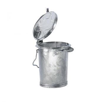 MM Spezial Mülleimer mit Bügel 35 l verzinkt