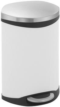 Eko Treteimer Shell Bin 10 L Weiß, Edelstahl matt