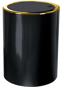 Kleine Wolke Clap Kosmetikeimer 5 l Golden schwarz