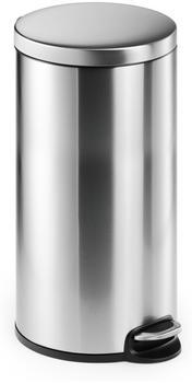 DURABLE Treteimer Edelstahl rund 30 Liter