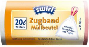 Swirl Zugband-Müllbeutel 20 L (20 Stk.)