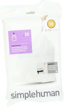 Simplehuman Sure-fit Müllbeutel 30 L (20 Stk.)