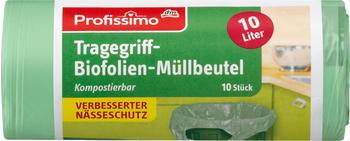 Profissimo Tragegriff-Biofolien-Müllbeutel 10L (10 Stk.)