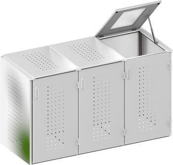 binto-muelltonnenbox-edelstahl-3-x-240-liter-klappdeckel