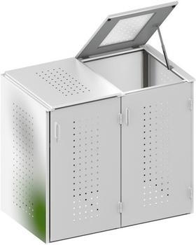 binto-muelltonnenbox-edelstahl-2-x-240-liter-klappdeckel