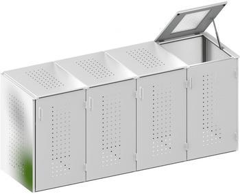 binto-muelltonnenbox-edelstahl-4-x-240-liter-klappdeckel