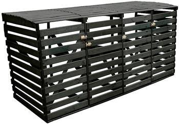 promex-muelltonnenbox-4-x-240-liter-anthrazit