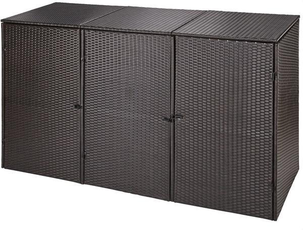 hanse gartenland m lltonnenbox polyrattan 3 x 240 liter testbericht. Black Bedroom Furniture Sets. Home Design Ideas