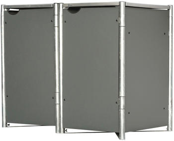 Globel Industries Mülltonnenbox 2 x 240 Liter grau