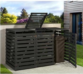 Weka Mülltonnenbox 3 x 240 Liter anthrazit