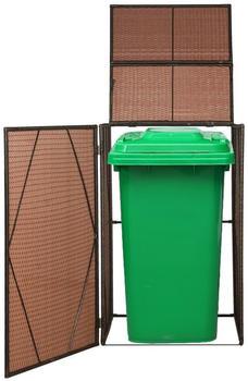 VidaXL Polyrattan Garbage Bin Cover (76x78x120cm)