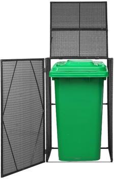 VidaXL Polyrattan Single Garbage Bin Cover (76x78x120 cm)