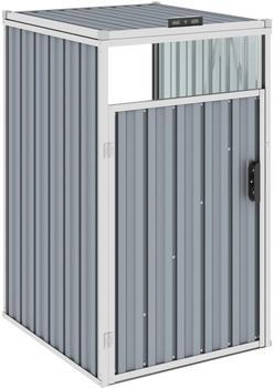 vidaXL Mülltonnenbox Stahl 1 x 240 Liter grau
