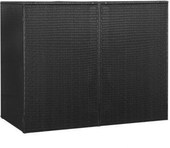 vidaXL Mülltonnenbox Polyrattan 2 x 240 Liter schwarz (46730)