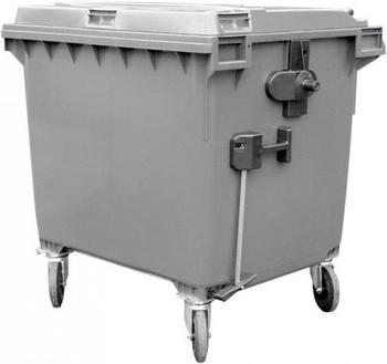 OPV Müllgroßbehälter Kunststoff Flachdeckel 660 Liter anthrazit