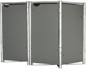 Hide Label Mülltonnenbox 2 x 240 L grau (79703959)