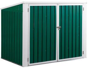 Outsunny Mülltonnenbox Storer 2 x 120 Liter grün