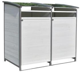 Mucola Mülltonnenbox 2 x 240 Liter weiß/grau
