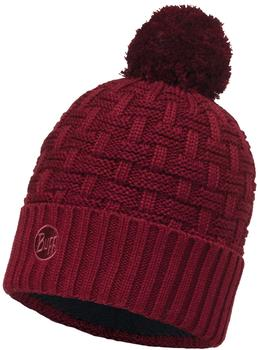 Buff Knitted & Polar Hat Airon wine/black
